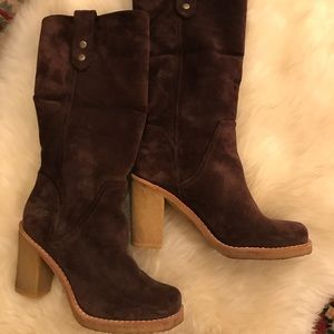 Ugg suede fold over suede boots